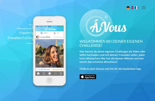 avous app landing page